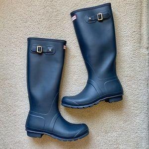 Hunter Original Tall Boots Waterproof Blue 9